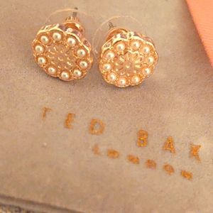 Ted baker pearl and gold earrings, brand new!